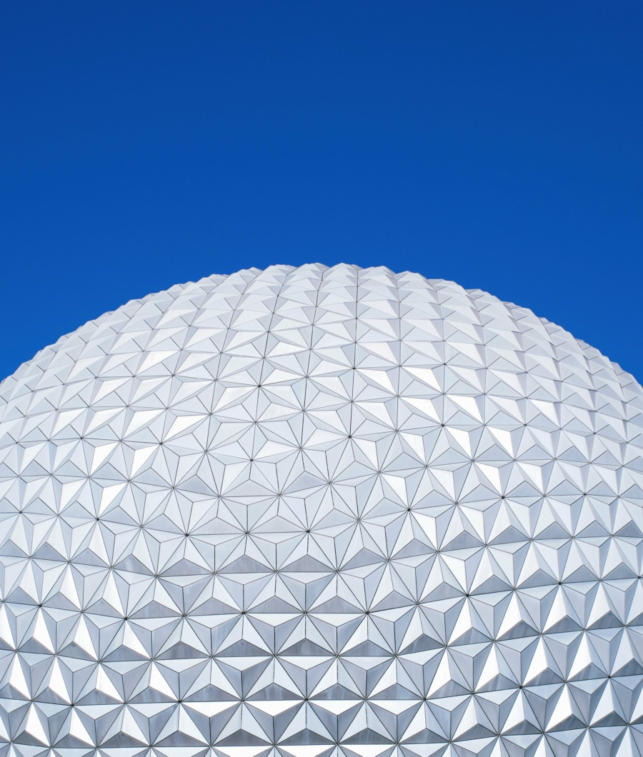 architecture white round ball under blue sky during daytime building building image