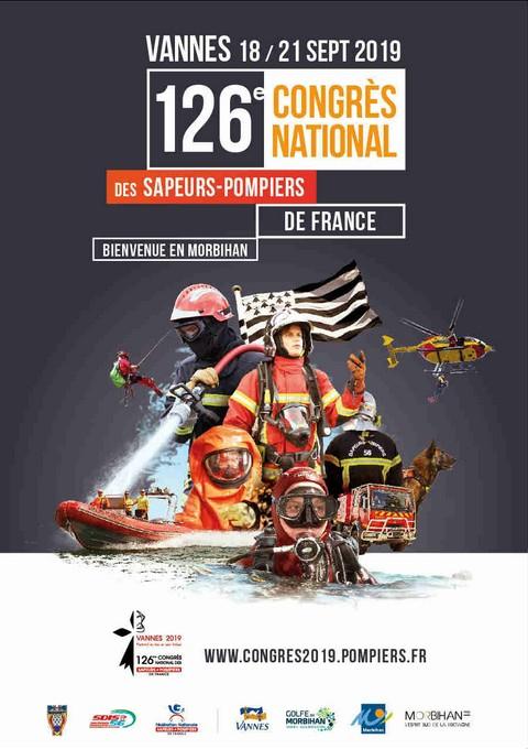 Affiche congres pompiers