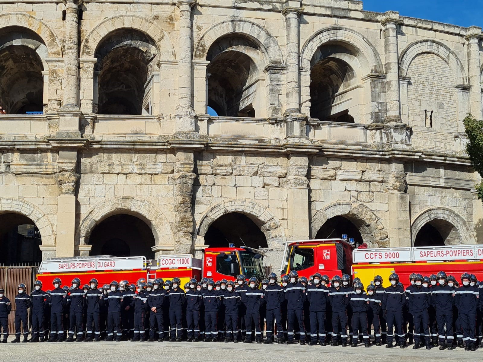 Ceremonie Pompiers SDIS30 2